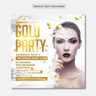 Volantino festa d'oro