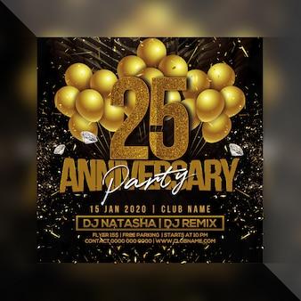 Volantino festa di anniversario