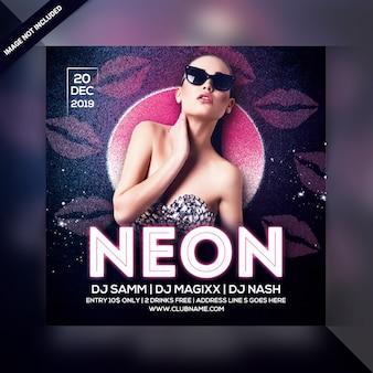 Volantino festa neon dj