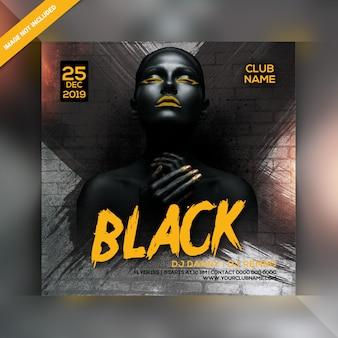 Volantino festa notte nera