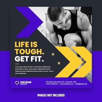 Volantino fitness quadrato