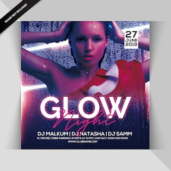 Volantino glow night party