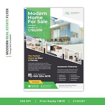 Volantino immobiliare moderno