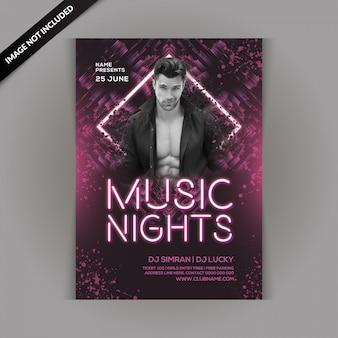 Volantino music night party