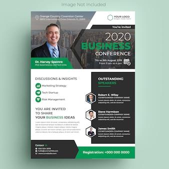 Volantino per conferenze aziendali