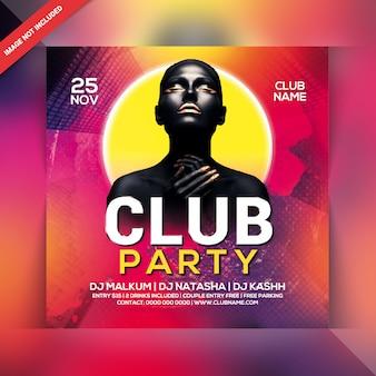 Volantino per festa del club