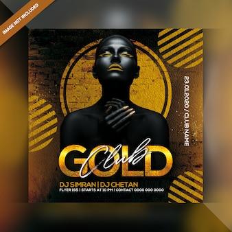 Volantino per festa gold club