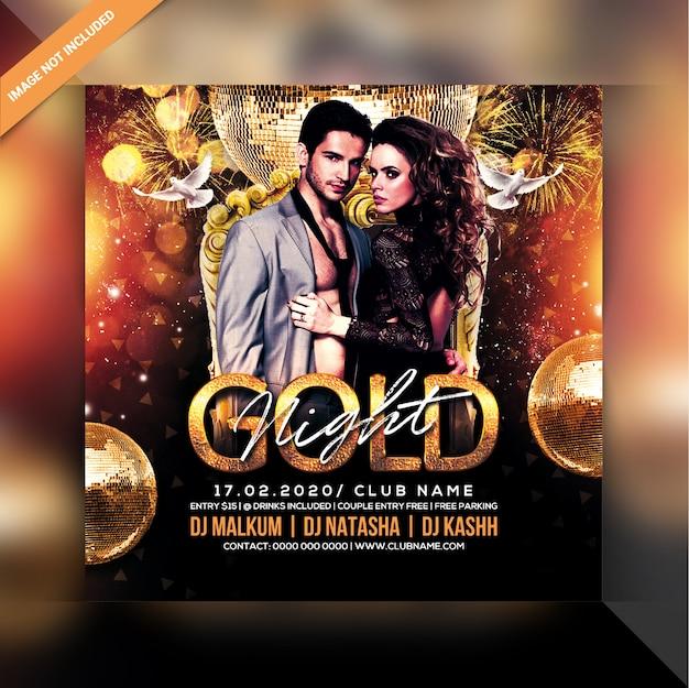 Volantino per festa gold night