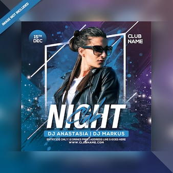 Volantino per festa in night club