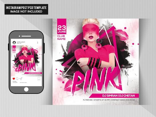 Volantino pink night party