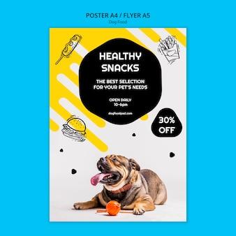 Volantino quadrato colorato cibo per cani