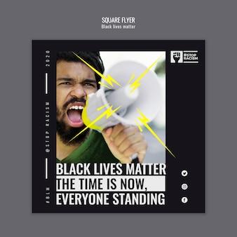 Volantino quadrato di vite nere di materia