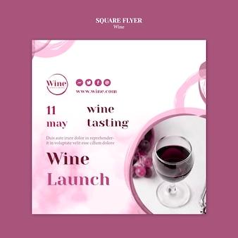 Volantino quadrato per degustazione di vini