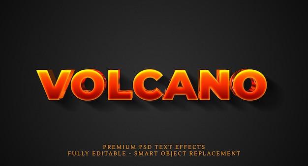 Volcano text style effect psd, efectos de texto psd premium