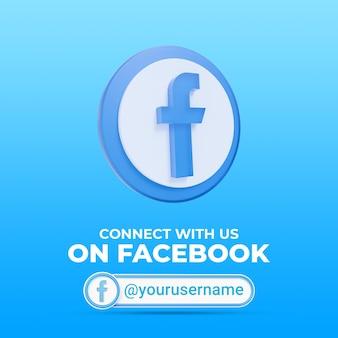 Volg ons op facebook social media vierkante bannersjabloon