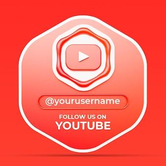 Volg ons op youtube social media profiel vierkante bannersjabloon