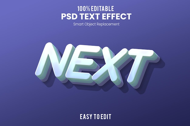 Volgende3d-teksteffect