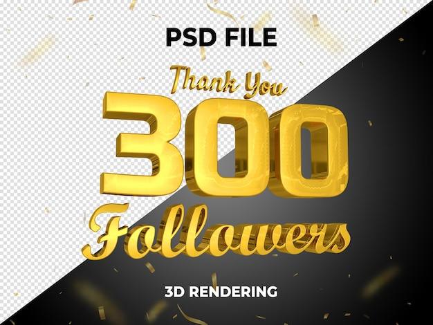 Volger goud 3d-rendering