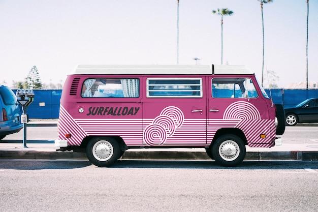Volkswagen truck mockup