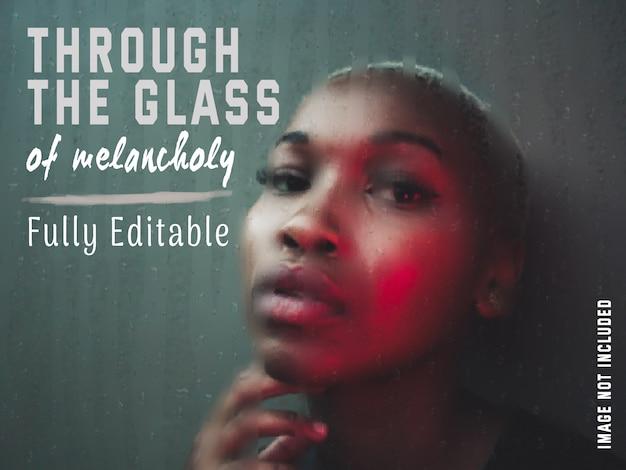 Volledig aanpasbaar nat glas met waterdruppels