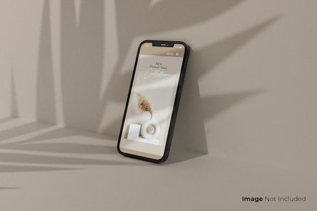 Volledig scherm-zwart-smartphone-mockup-ontwerp