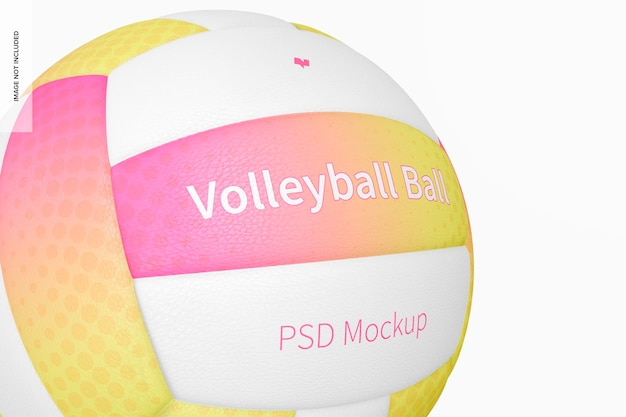 Volleybal game ball mockup, close up