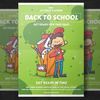 Volta ao modelo de panfleto de escola