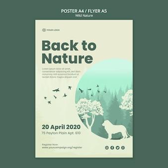 Volver a la naturaleza folleto de naturaleza salvaje