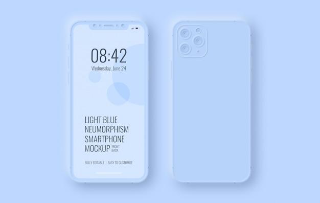 Voor- en achterkant van smartphone-mockup