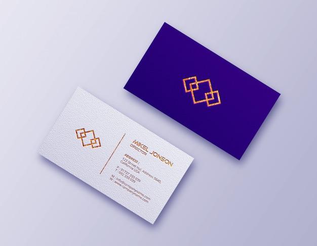 Voor- en achterkant visitekaartje mockup