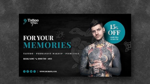 Voor je herinneringen tattoo banner