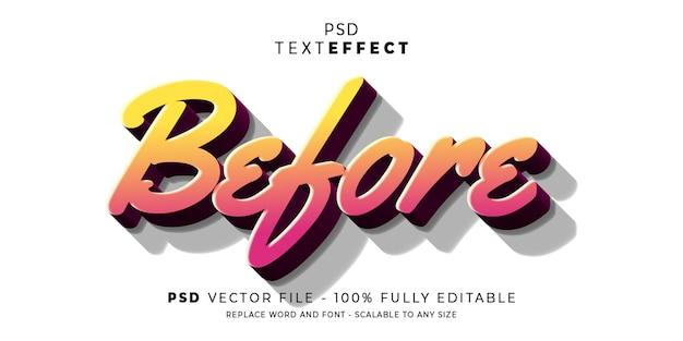 Vóór teksteffect
