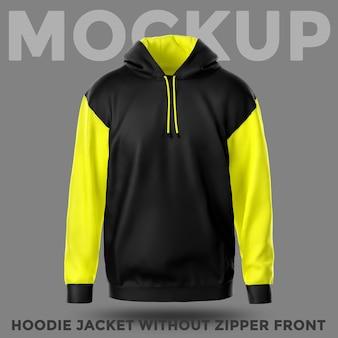 Vooraanzicht hoodie zonder zakmodel