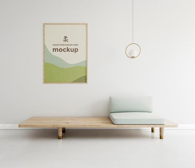 Vooraanzicht huisarrangement met frame mock-up