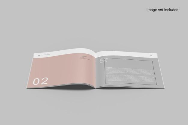 Vooraanzicht landschap brochure mockup ontwerp