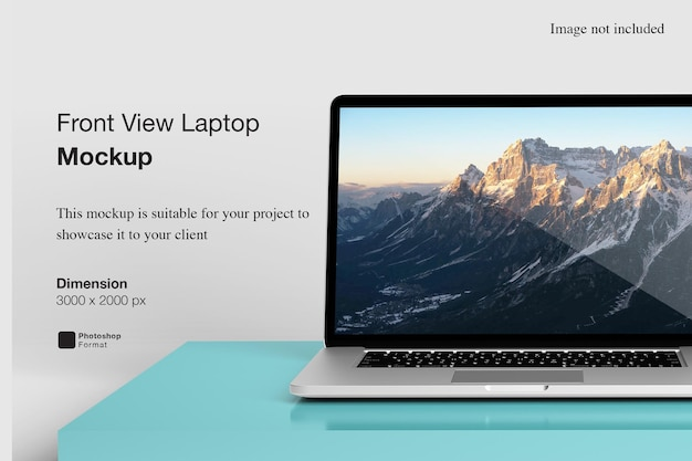 Vooraanzicht laptop mockup