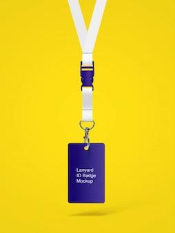Vooraanzicht pf mockup van lanyard id-badge