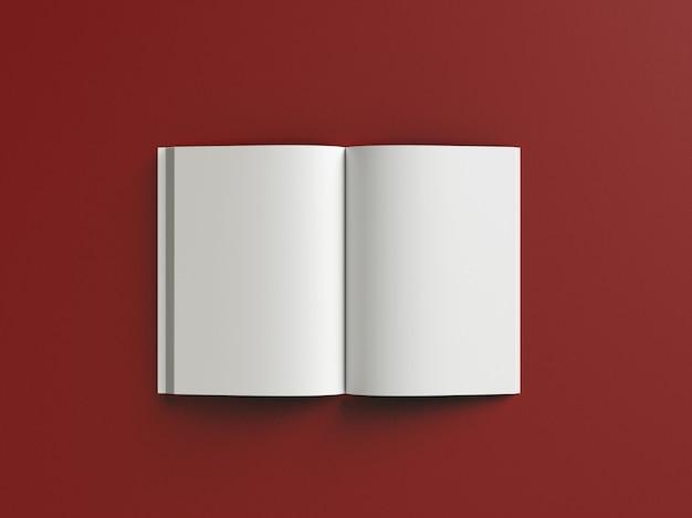 Vooraanzicht realistisch boek hardcover mockup