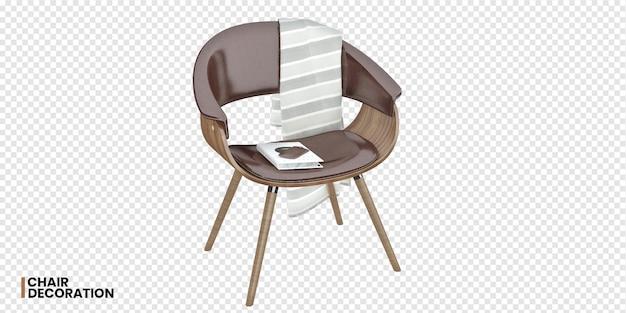 Vooraanzicht van 3d-weergave van een stoel