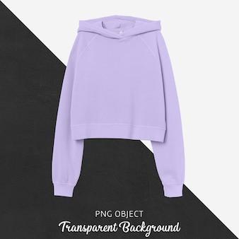 Vooraanzicht van basic crop hoodie mockup