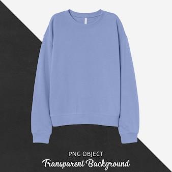 Vooraanzicht van basic lichtblauw sweatshirtmodel