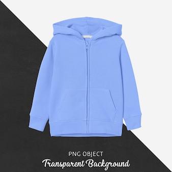 Vooraanzicht van blauw kinderen hoodie mockup