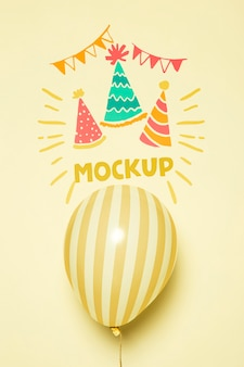 Vooraanzicht van de mock-upballonnen van de partijviering
