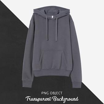 Vooraanzicht van donkergrijs hoodie-mockup