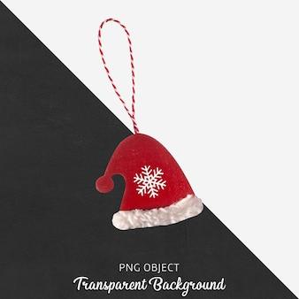 Vooraanzicht van geïsoleerde kerst ornament