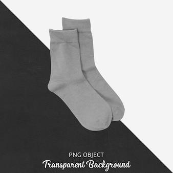 Vooraanzicht van grijze sokken