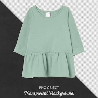 Vooraanzicht van groen basiskledingmodel
