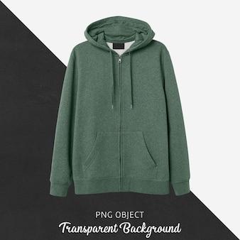 Vooraanzicht van groen hoodiemodel
