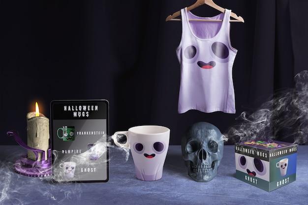 Vooraanzicht van halloween-het model van het spookconcept