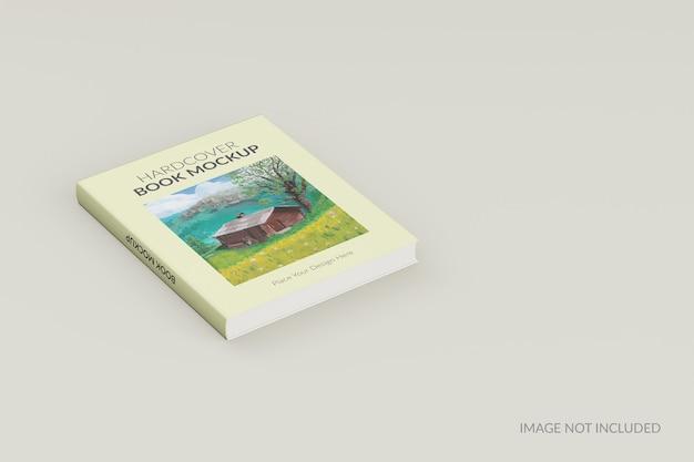 Vooraanzicht van hardcover boek staande mockup